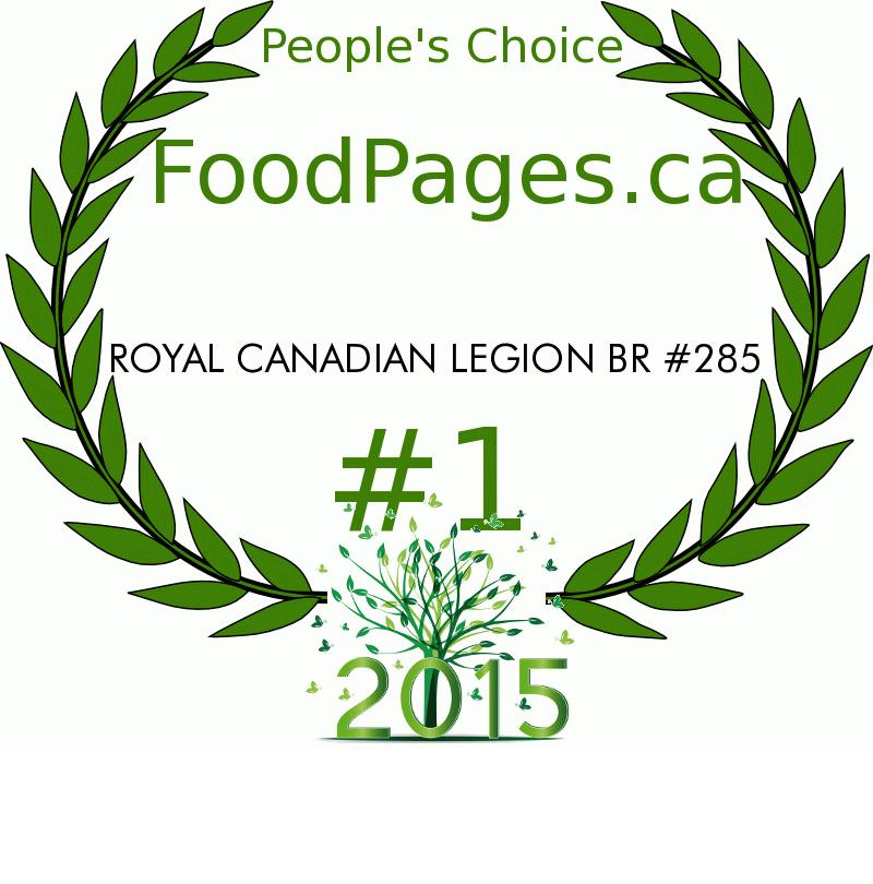 ROYAL CANADIAN LEGION BR #285 FoodPages.ca 2015 Award Winner